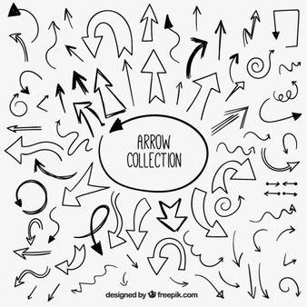 free doodle arrow vector pfeile gezeichnet vektoren fotos und psd dateien
