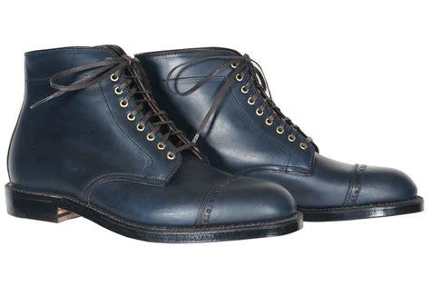 Sepatu Derby Captoe by Alden For Epaulet Concord Captoe Boot Navy Chromexcel