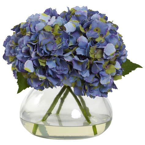 silk blue hydrangea arrangement silk flower arrangements
