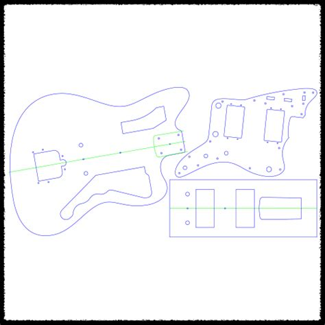 strat routing template jazzblaster guitar routing templates faction guitars