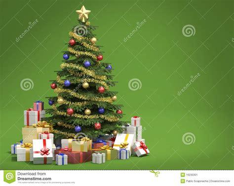 193 rbol de navidad en fondo verde stock de ilustraci 243 n