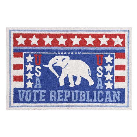 c f enterprises hooked rugs vote republican hooked rug 2 x 3 c f enterprises