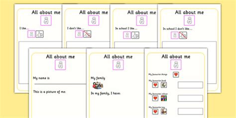 about me booklet template all about me book ourselves sen booklet writing template