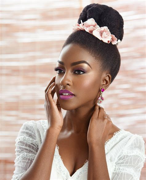 wedding hair buns for black women get to know natural hair wedding hairstyles 2017