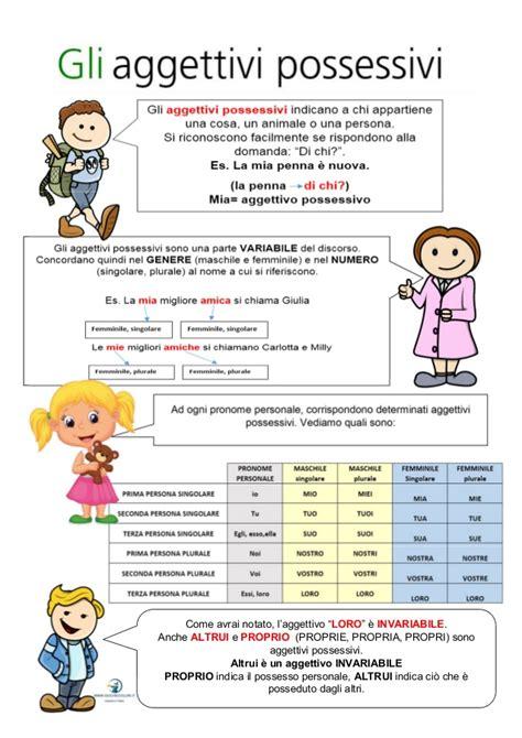 analisi grammaticale di giardino aggettivi e pronomi possessivi schede didattiche per la