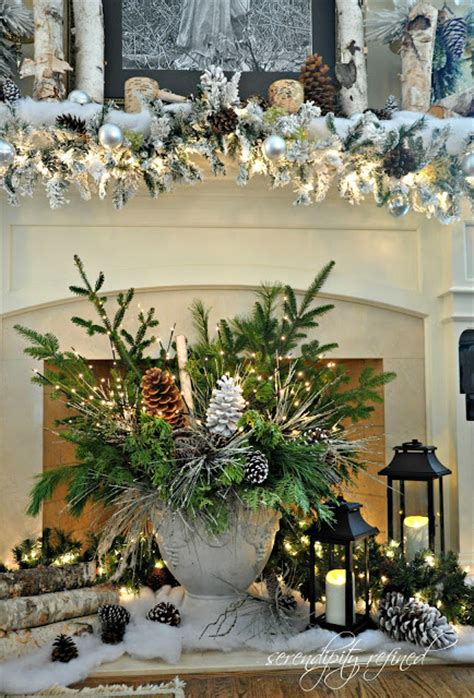 When To Start Decorating For by This Icy Woodland Centerpiece And Garland Are So Fabulous