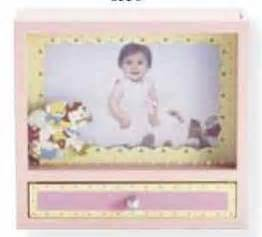 Engsel Baby Box Bfl 888 photo frame box with drawer pink