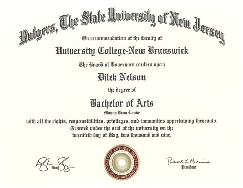 Post Mba Certificate Rutgers by Rutgers Summa Laude Quizes