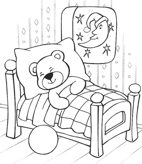 coloring page baby sleeping free printable teddy bear coloring pages technosamrat