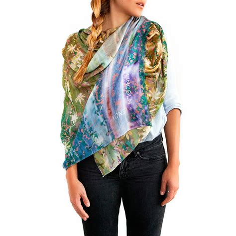 womens printed silk scarf moroccan cactus by