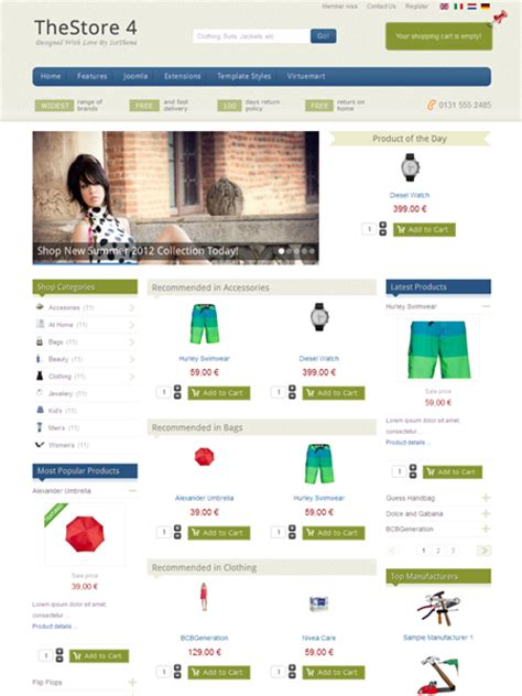 template joomla free ecommerce it thestore 4 joomla ecommerce template for virtuemart shop