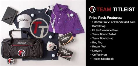 Titleist Giveaway - team titleist major april sweepstakes