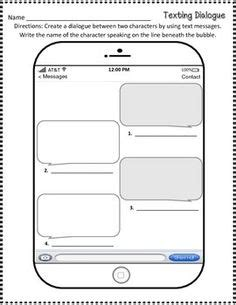 Text Message Template For Students Blank Text Message Template 8 Razred Pinterest Messages Template And Texts