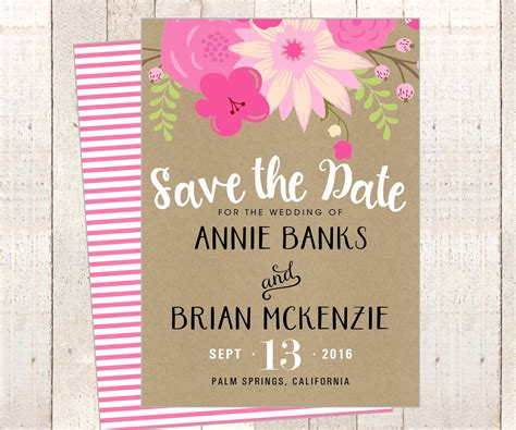 The Wedding Date Shower by Printable Wedding Save The Date Card Or Bridal Shower