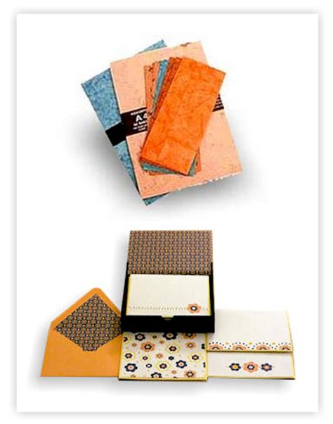 Handmade Paper India - stationery set envelopes folders buy handmade paper