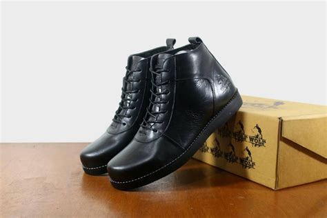 Dr Becco Casual Hitam cek harga baru sepatu kulit asli boots brodo pria reyl
