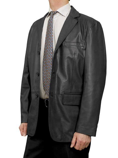 Luxurius Jacket mens luxury leather blazer jacket 3 button 4 colours tout ensemble