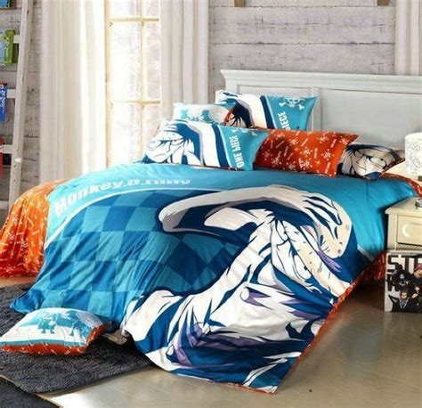 anime bed sheets creative anime one piece 4pcs bedding set monkey d luffy