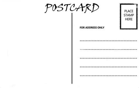 postcard address template blank postcard template free premium templates post card layout postcard format km creative