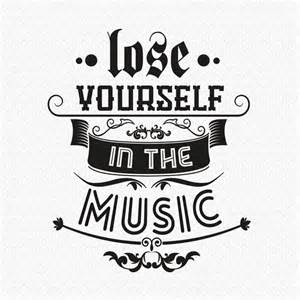 lose yourself in the music wall sticker by wall art