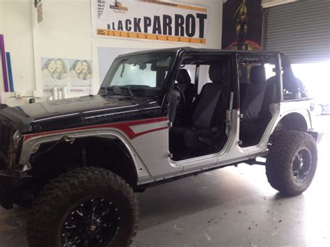 Change For Jeep Wrangler Vehicle Color Change Black Parrot