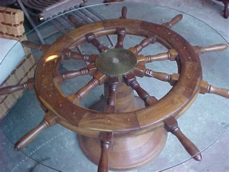 antique ship s wheel coffee table 171 obnoxious antiques