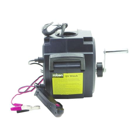 boat r winch electric rolson dc 12v car caravan boat electric power winch new ebay