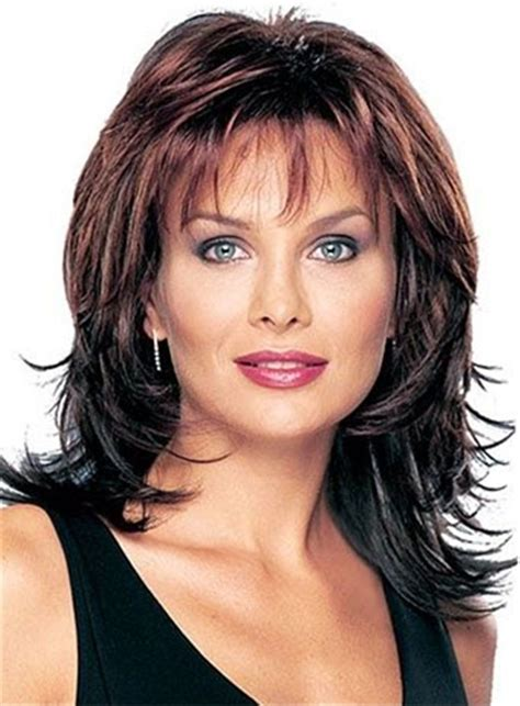 old fashioned shag hairstyles layered shaggy hairstyle with full bangs middle length