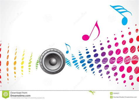 themes about music music theme stock vector image of element loudspeakers