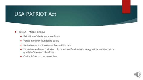 section 215 of the usa patriot act final presentation rev 1 usa patriot act