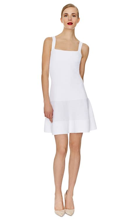 white knit dress n 176 21 sleeveless knit dress in white lyst