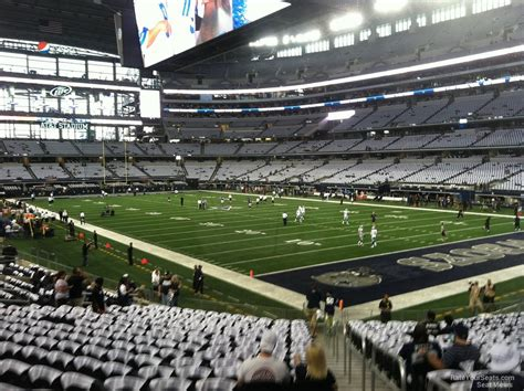 cowboys stadium sections at t stadium section 102 dallas cowboys rateyourseats com