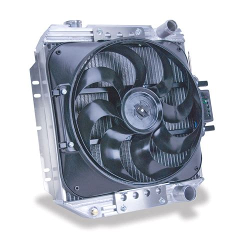 aluminum radiator with electric fan flex a lite automotive direct fit flex a fit engine swap