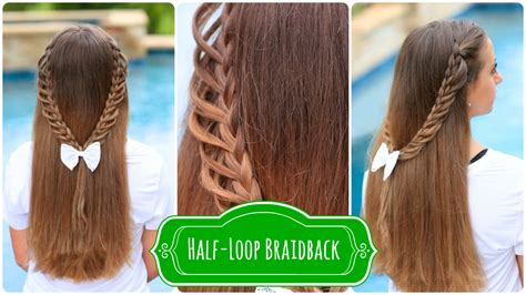 cute hairstyles for back to high school half loop braidback back to school hairstyles cute