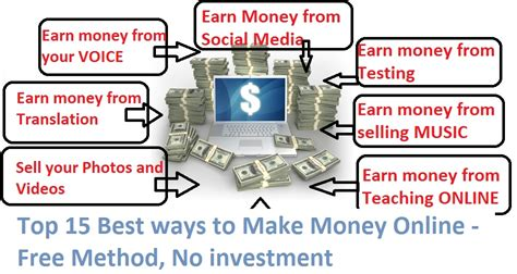 Methods Of Making Money Online - top 10 best ways to make money online free method no investment crazy tech tricks