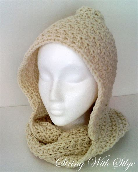 crochet pattern hooded infinity scarf pin by audelia claire on crafts i would try or love to do