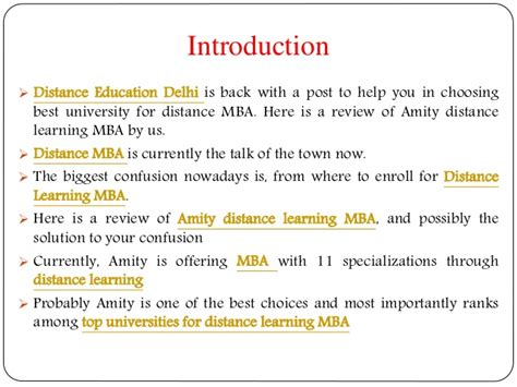 Mba Distance Education In Delhi by Review Of Amity Distance Learning Mba By Us