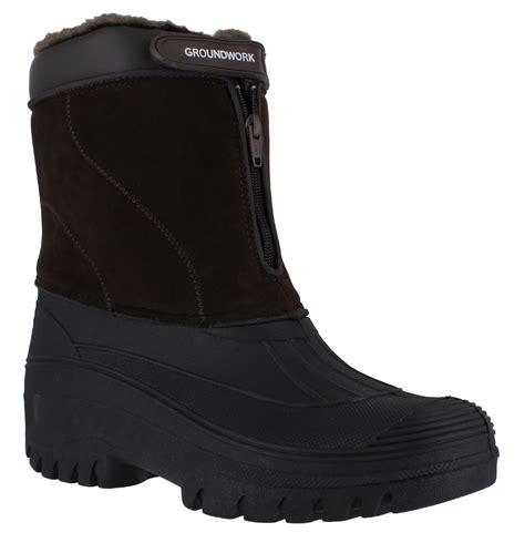 mens snow boots size 7 mens mucker stable yard waterproof winter snow zip boots
