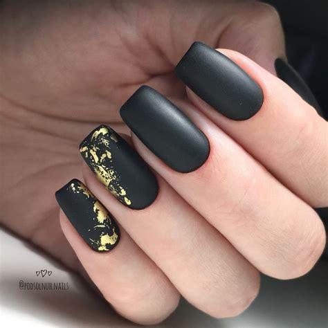 imagenes de uñas negras con dorado маникюр ногти nails pinterest manicure witchy