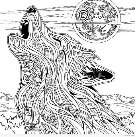 Wolf Coloring Pages for Kids   TimyKids