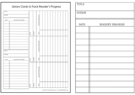 silent library cards template library cards track your kid s reading progress free