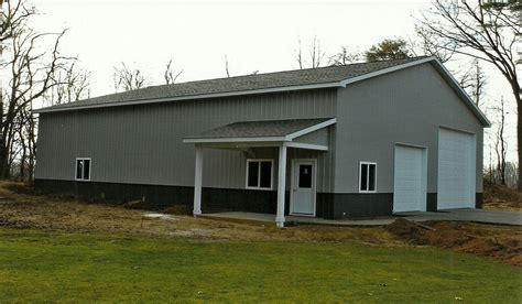 Metal Building With Living Quarters Floor Plans by Pole Buildings Deloof Builders Llc