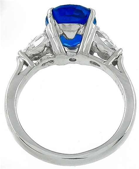 enticing 3 99 carat sapphire platinum engagement