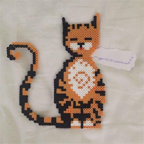 perler bead cat cat perler by myperlercreations cross me ideas