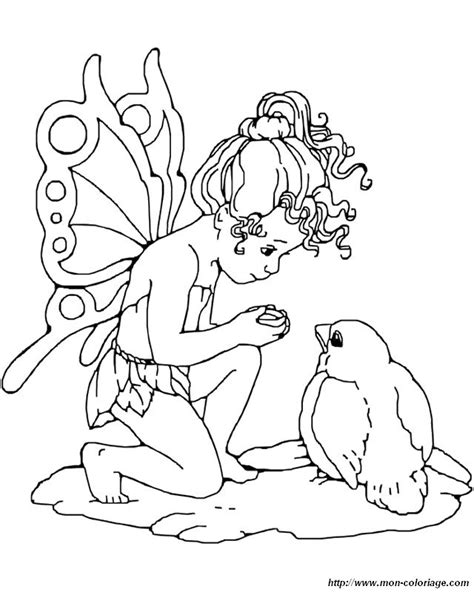 free coloring pages of cute small fairy