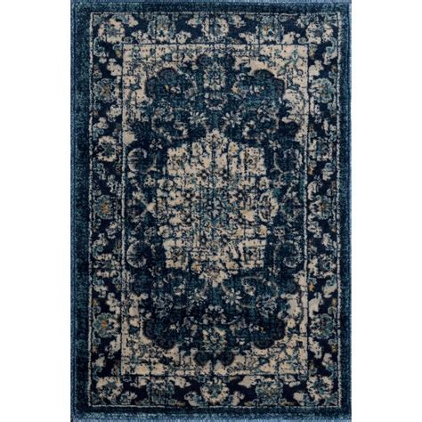 Rugs 2x3 by Tayse Rugs Journey Navy 2 Ft X 3 Ft Area Rug Jrn1107 2x3