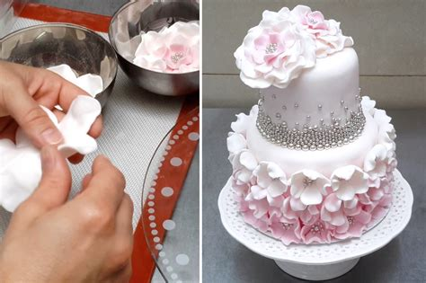 how to make a simple and fondant cake tutorial by