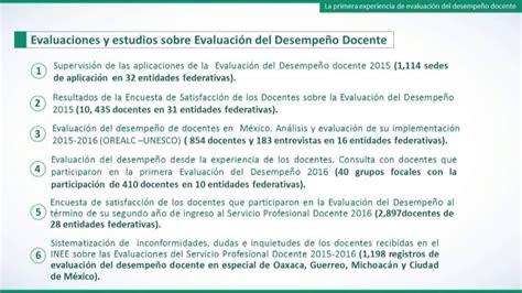 evaluaciones de desempeo docente 2016 inee replantea modelo de evaluaci 211 n del desempe 209 o