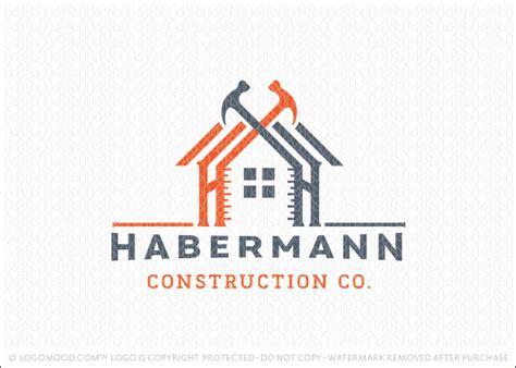 work from home logo design logo sold handyman construction building logo design