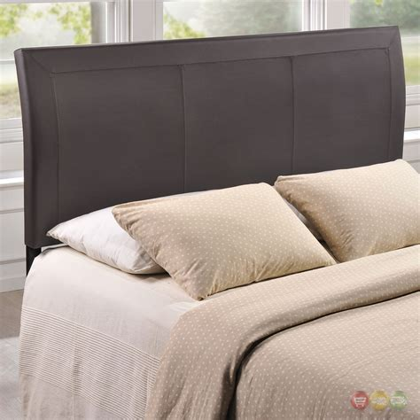 leather queen headboards isabella contemporary faux leather queen headboard brown